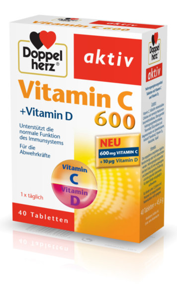 Допелхерц (Doppelherz) Витамин С и D таблетки x40